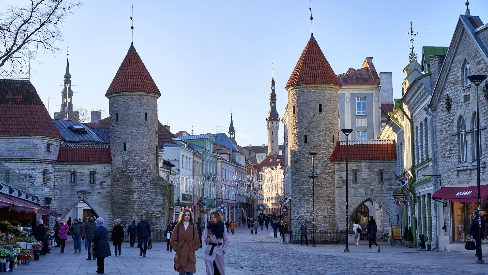 The Viru Gate in Tallinn