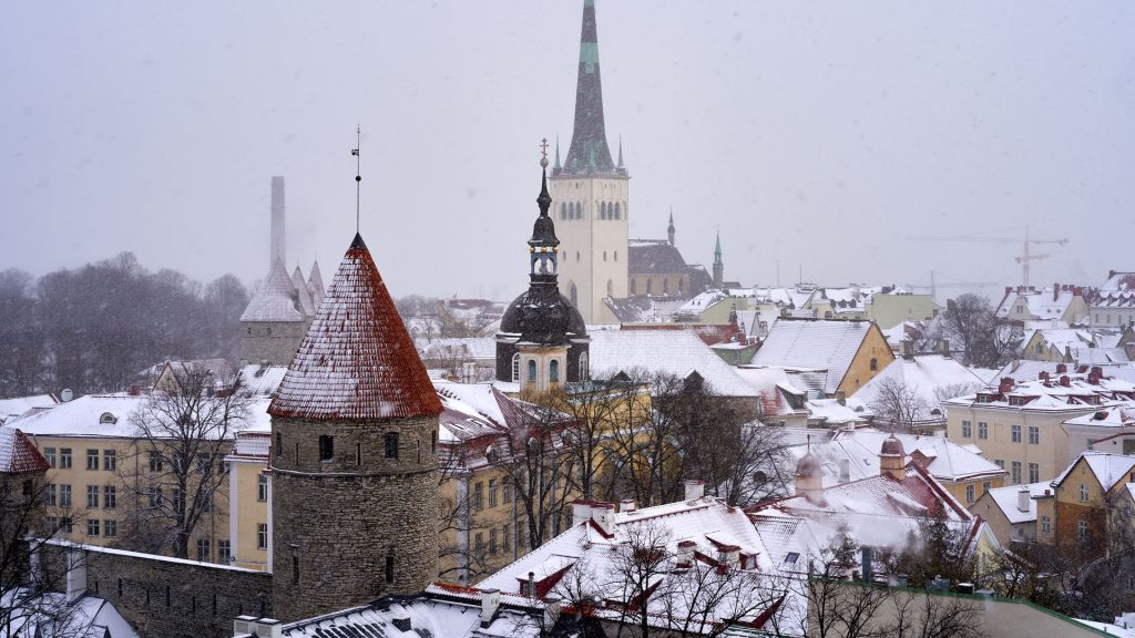 View from Toompea Hill in Tallinn