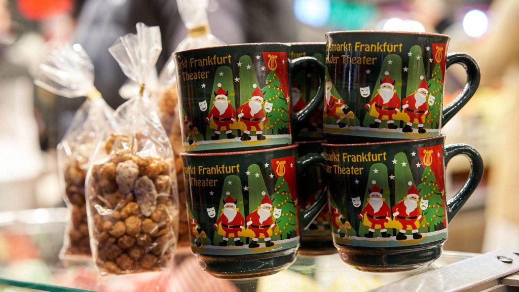Gluehwein mugs at Frankfurt Christmas Market
