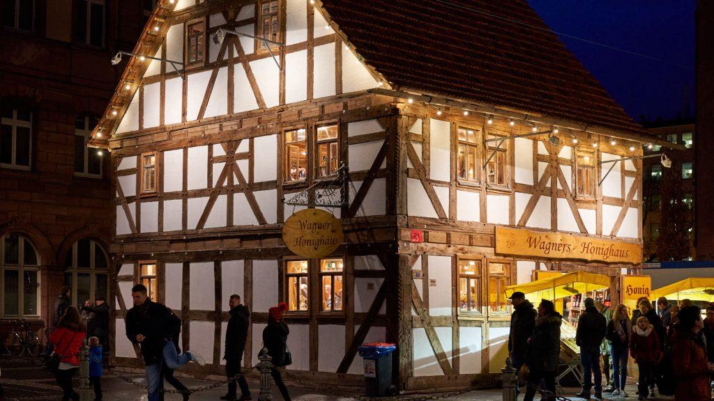 Honey house at Christmas Market Frankfurt