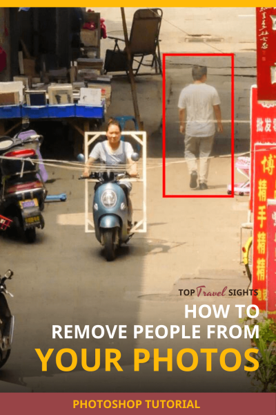 Pinterest graphic for How to Remove People from Photos