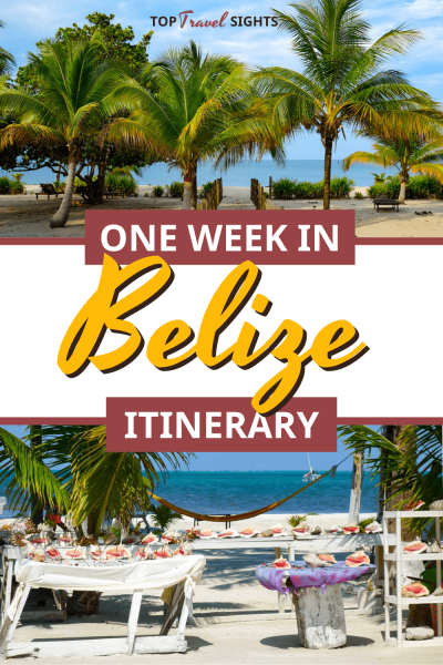 Pinterest image for one week in Belize