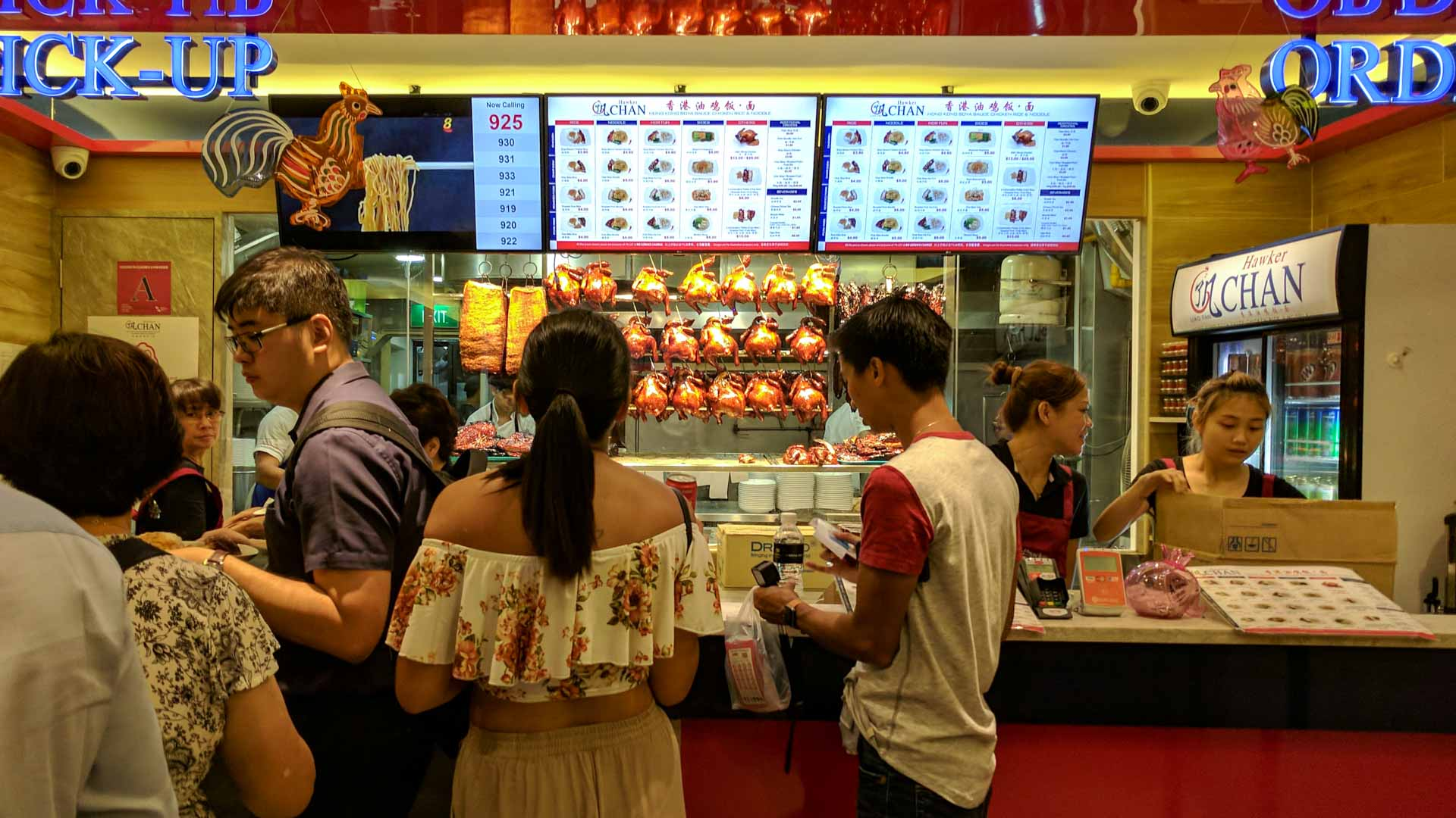 Singapore Hawker Chan queue