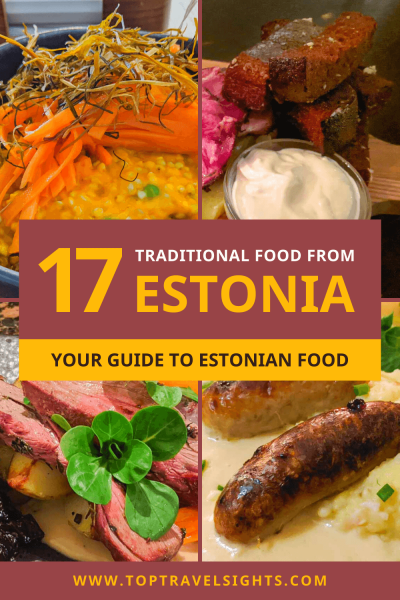 Pinterest graphic for top food in Estonia