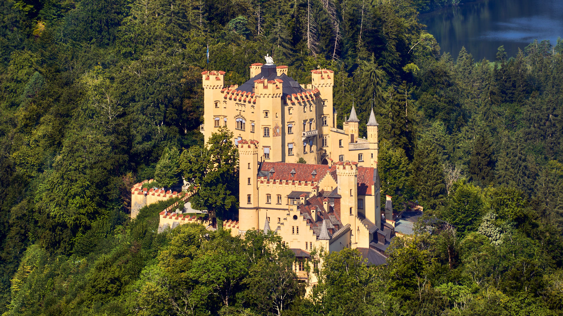 Close up of Hohenschwangau Castle
