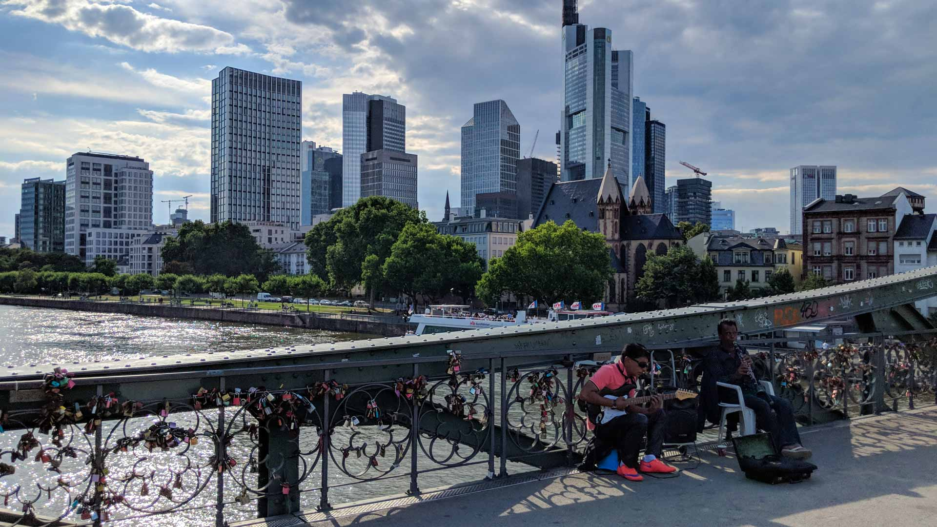 View of Frankfurt from the Eiserner Steg bridge