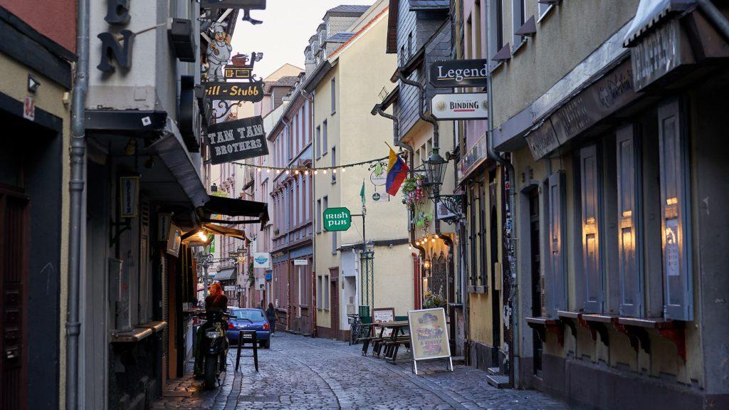 Street in Sachsenhausen, Frankfurt