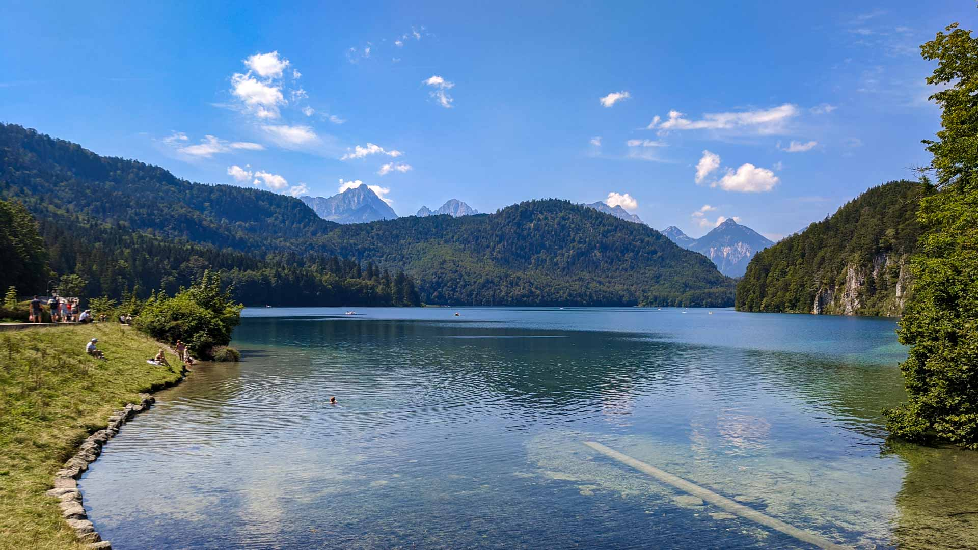 View of the Lake Alpsee