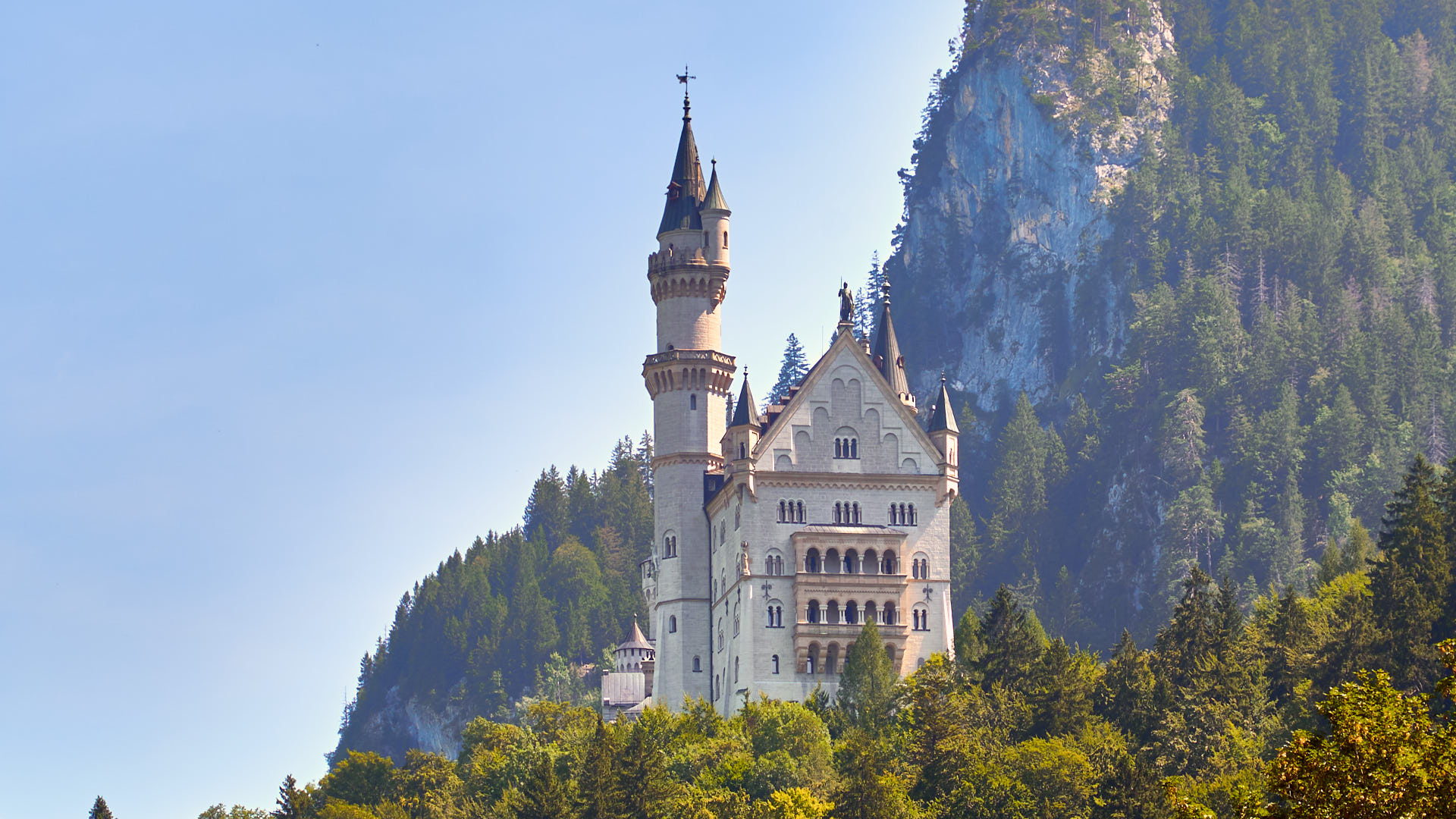 View of Newschwanstein Castle from far away