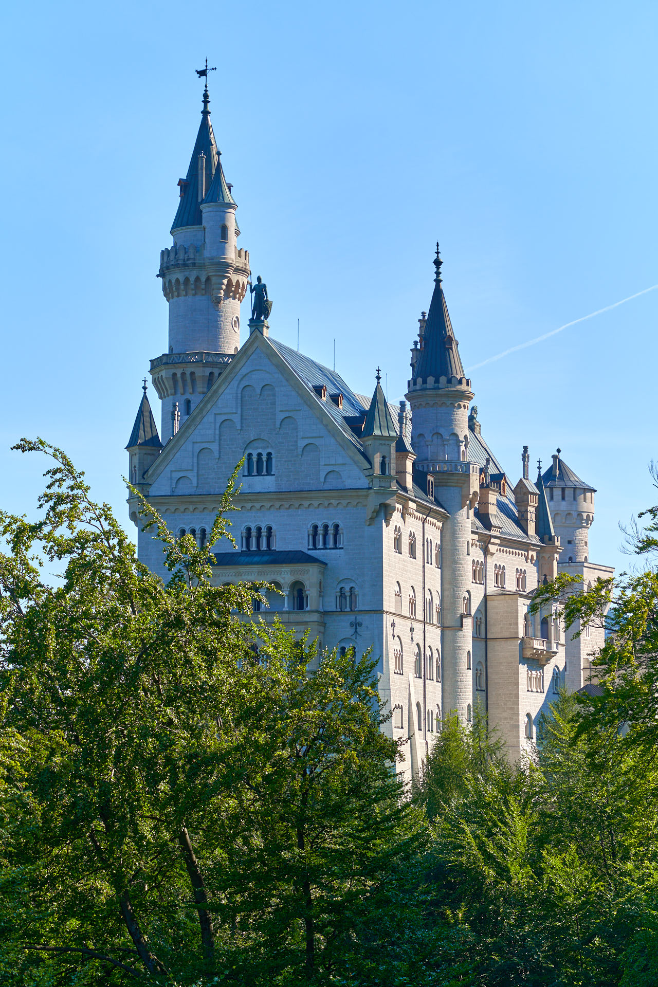 View of Newschwanstein from behind