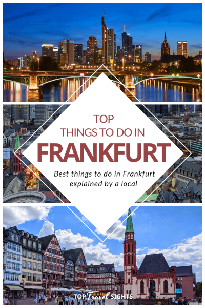 Pinterest graphic for Top Things to do in Frankfurt