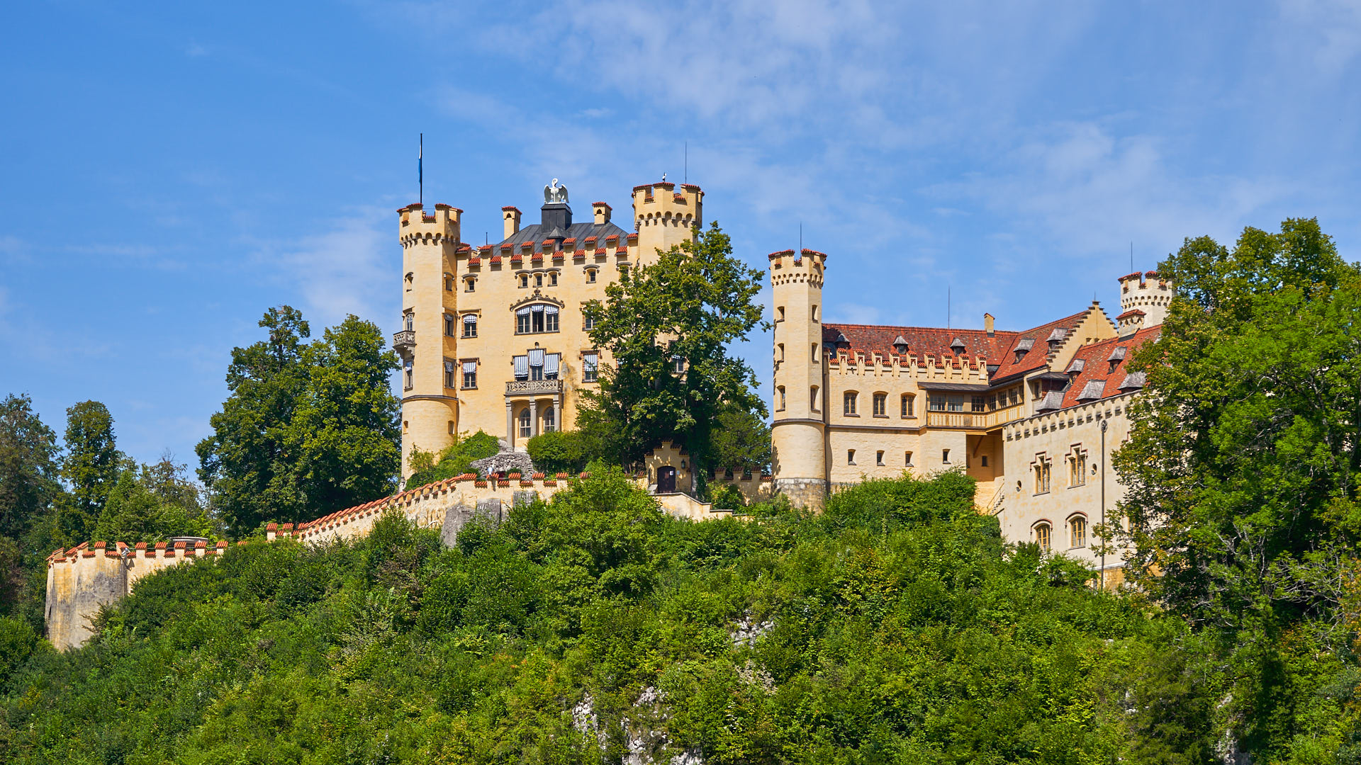 View of Hohenschwangau Castle from the town