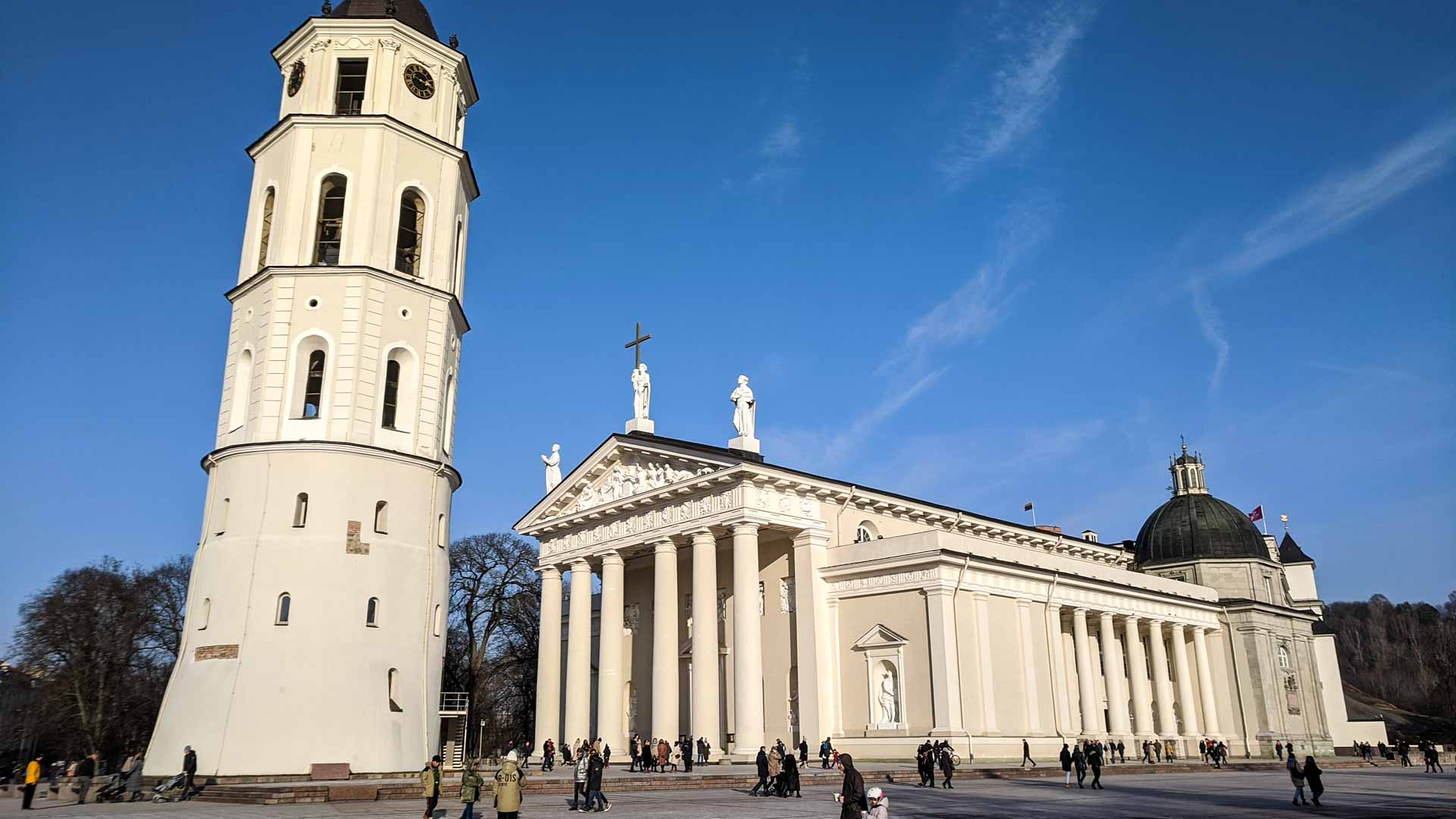 View of the Vilnius Cathedral, Lithuania