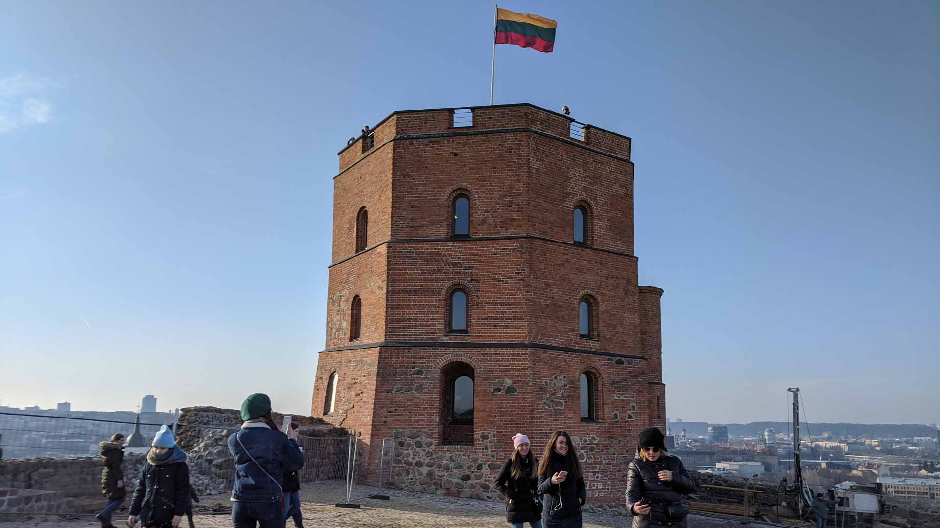Gediminas Castle Tower in Vilnius, Lithuania