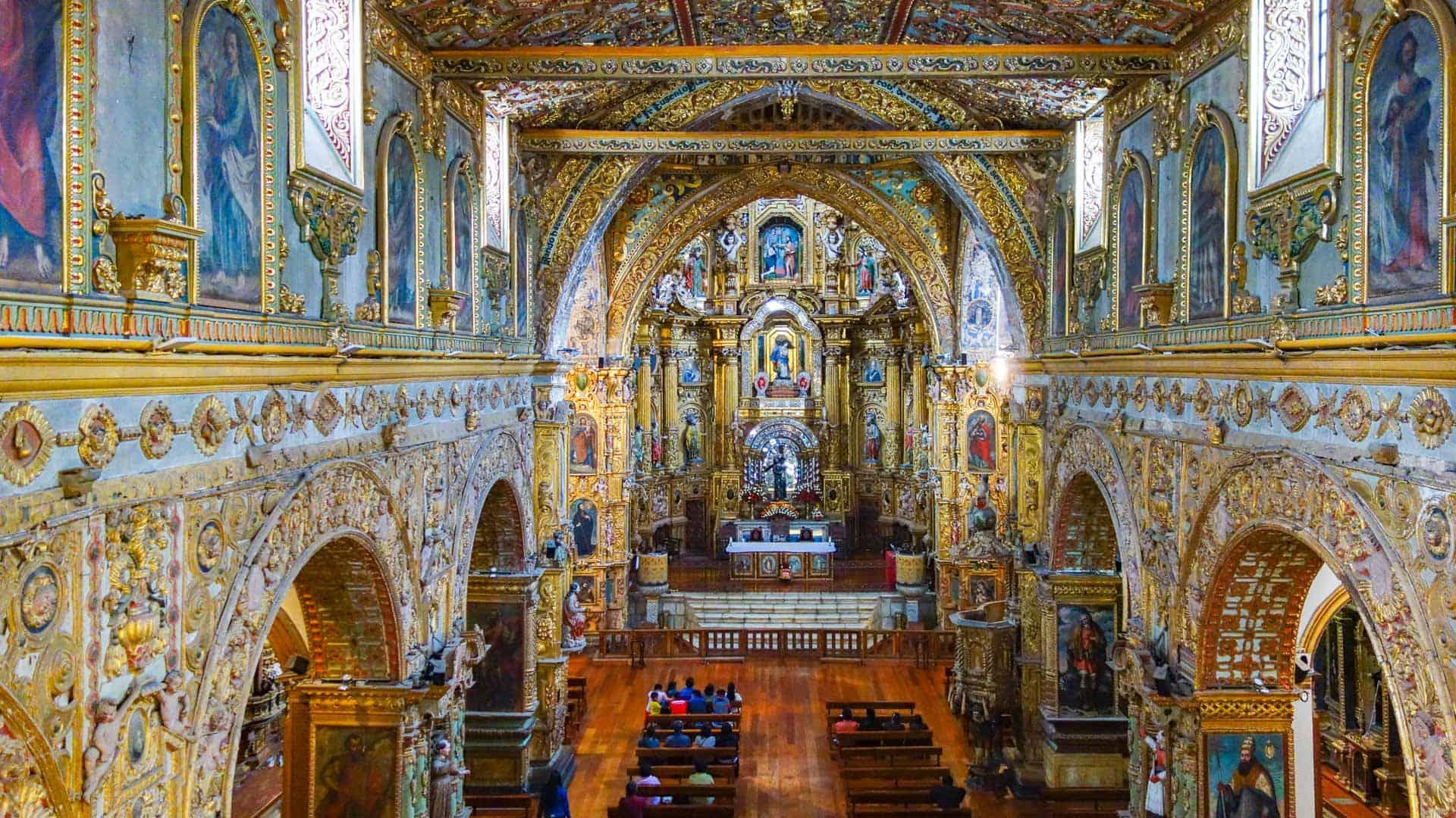 Interior of the Iglesia de San Francisco