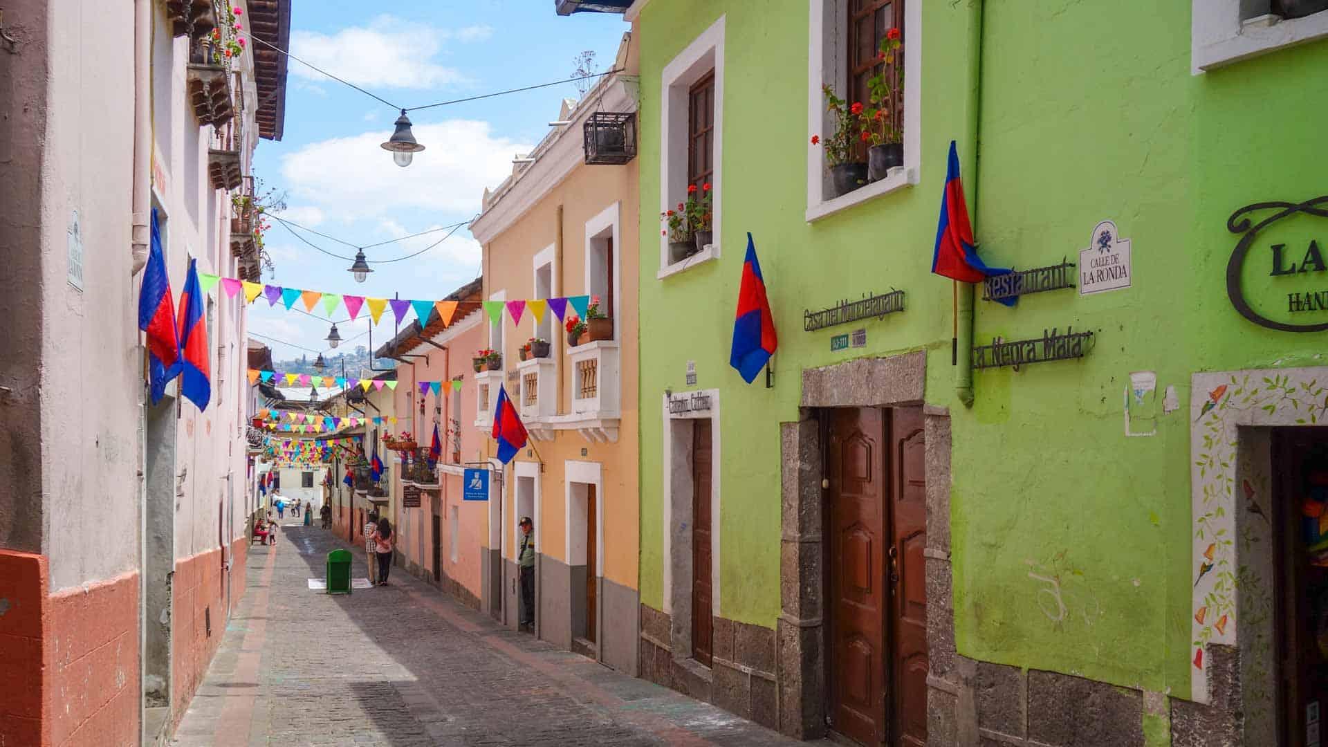 Street in La Ronda, Quito
