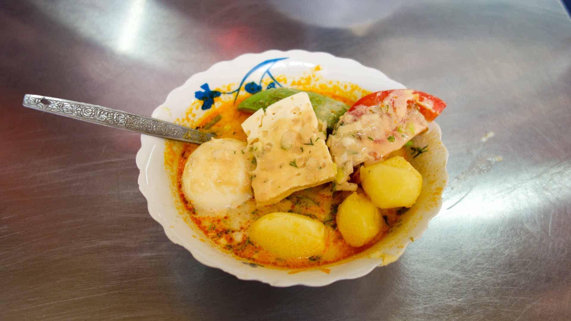 Locro de Papa, traditional dish from Ecuador