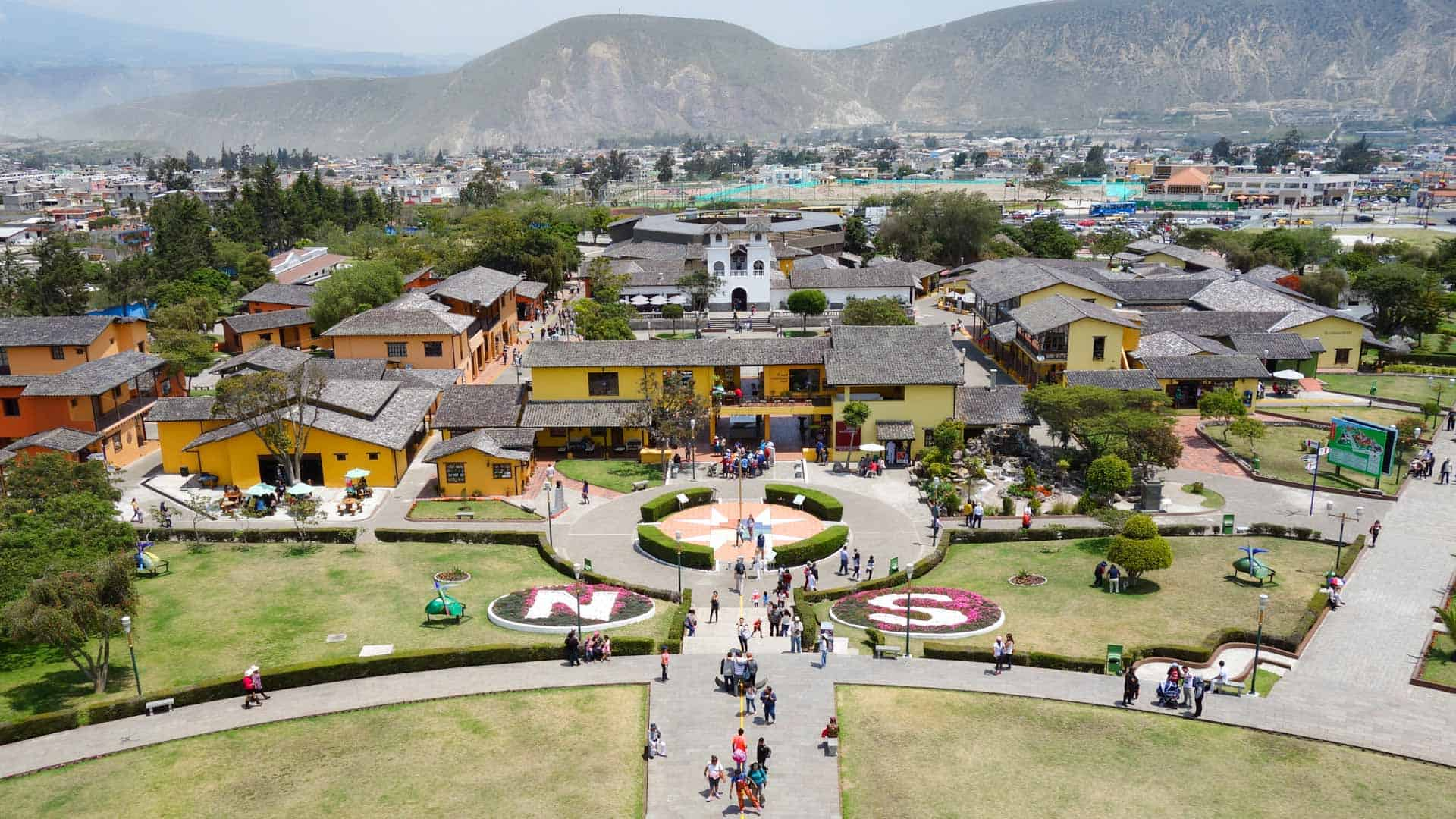 Mitad del Mundo, the Ecuator of the World, in Ecuador