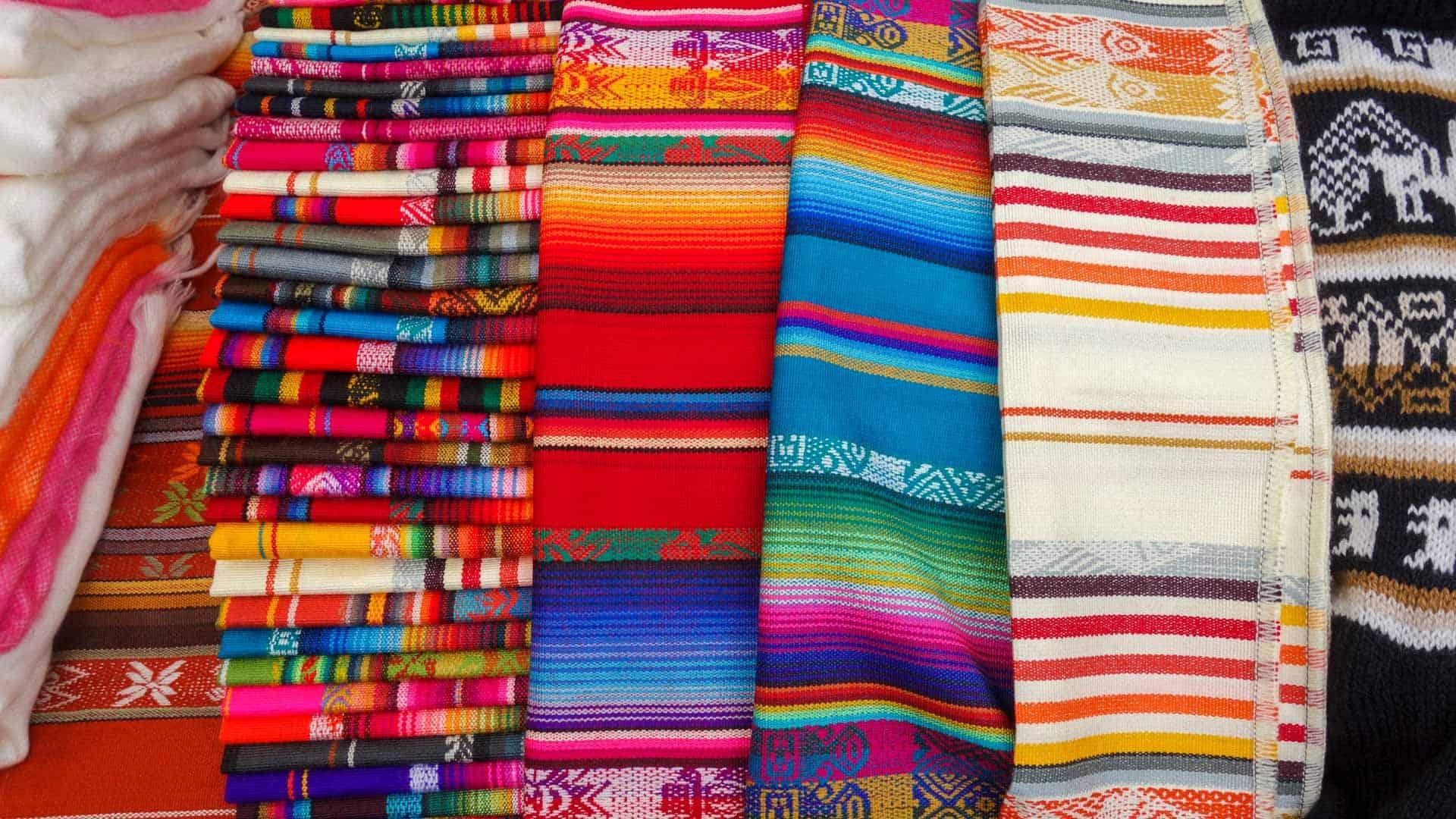 Fabric in Otavalo Market