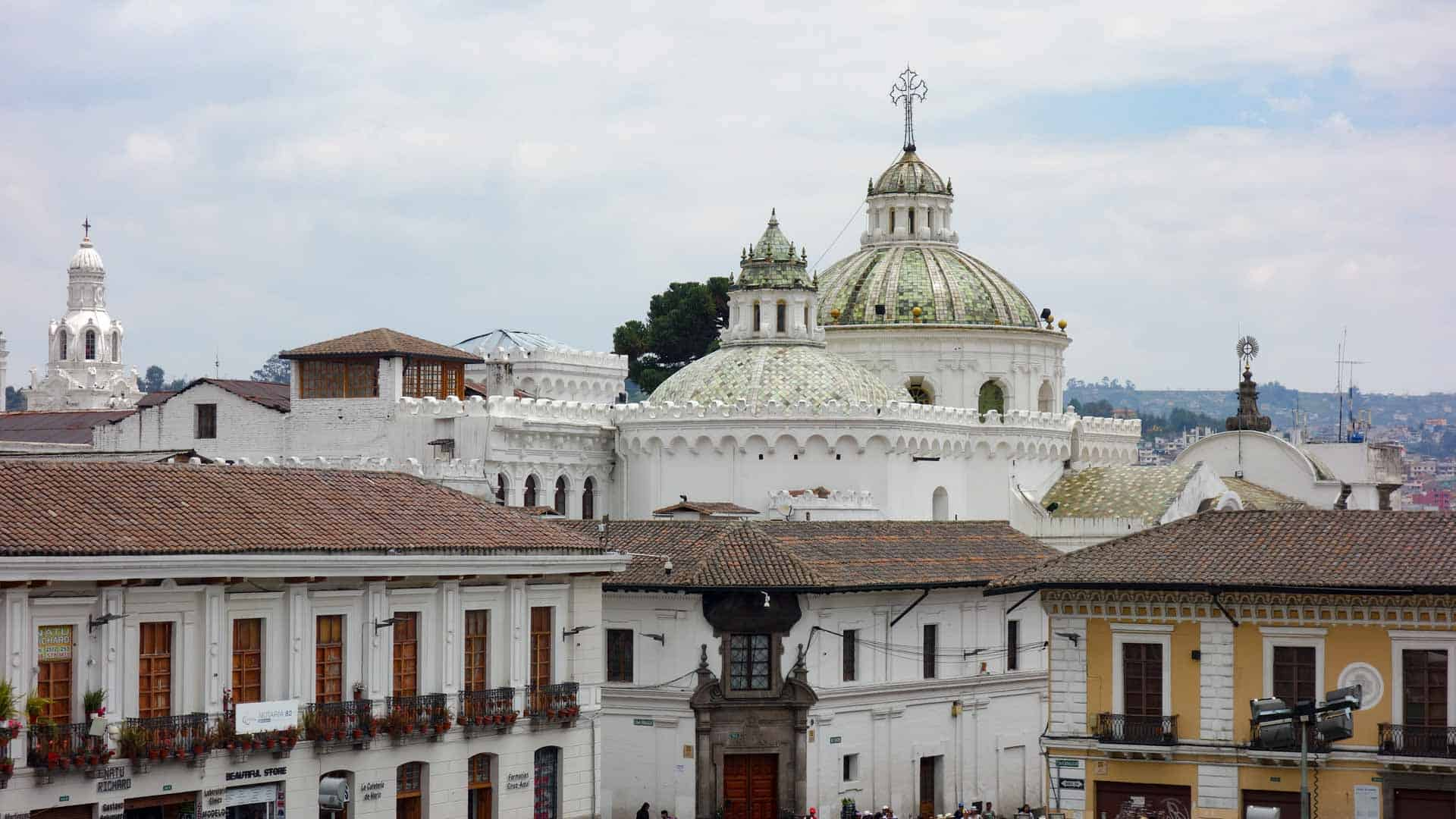 Buildings in the Old Town of Quito