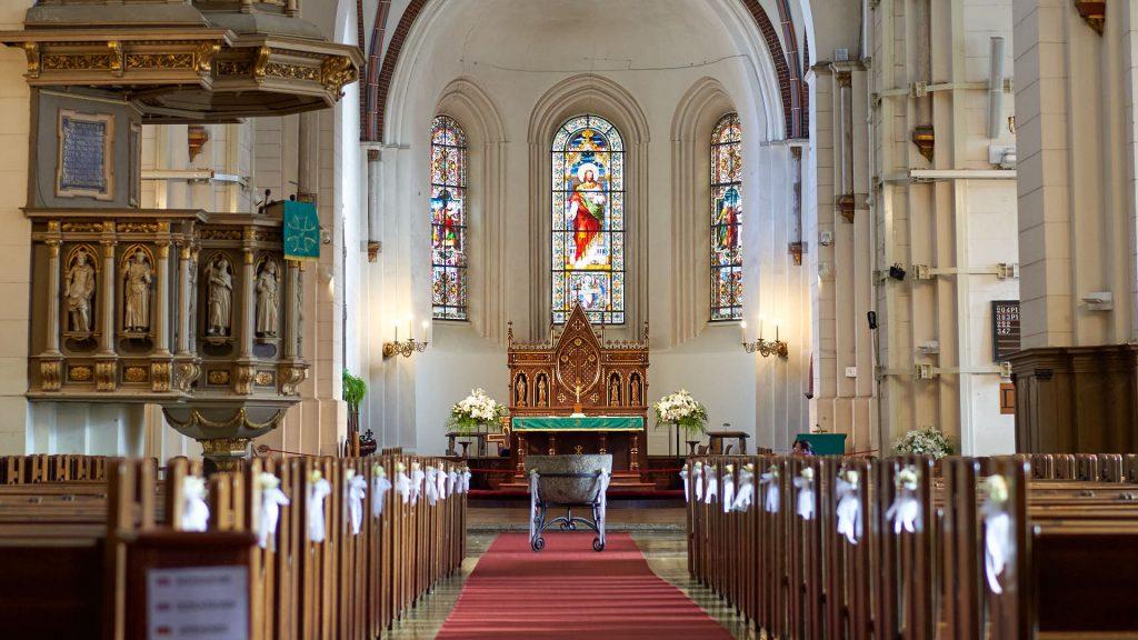 Interior of the Riga Cathedral, Latvia
