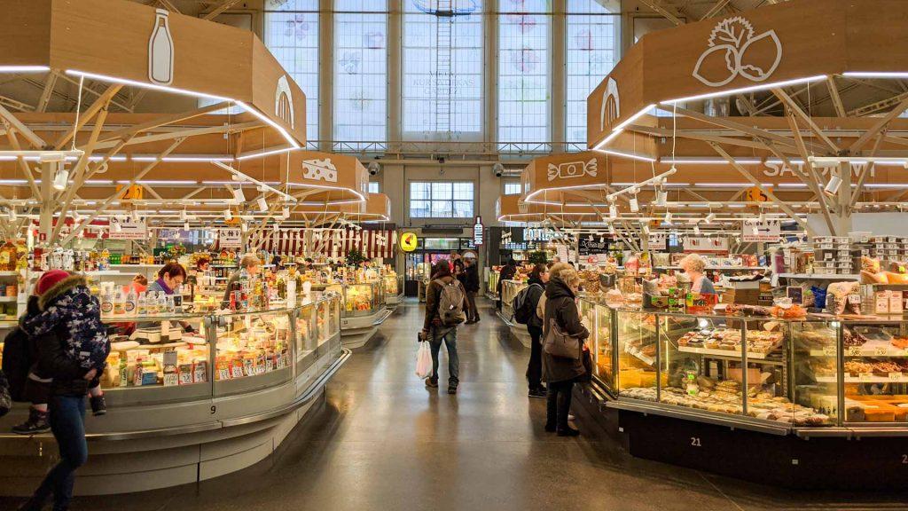 The Central Market in Riga, Latvia