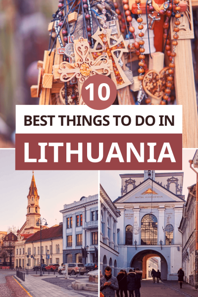 Pinterest image for top things to do in Lithuania