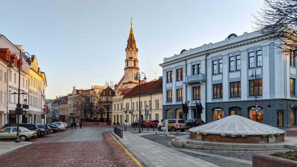 Town Hall Square in Vilnius