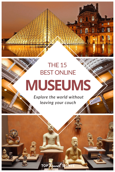 Pinterest graphic for Museums you can visit online