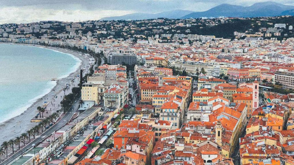 Nice, France in winter
