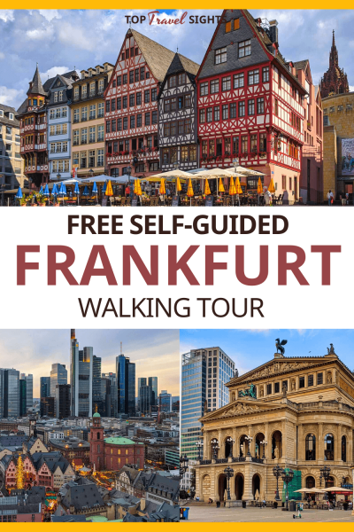 Pinterest graphic for Self-guided walking tour of Frankfurt