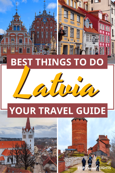 Pinterest graphic for top things to do in Latvia