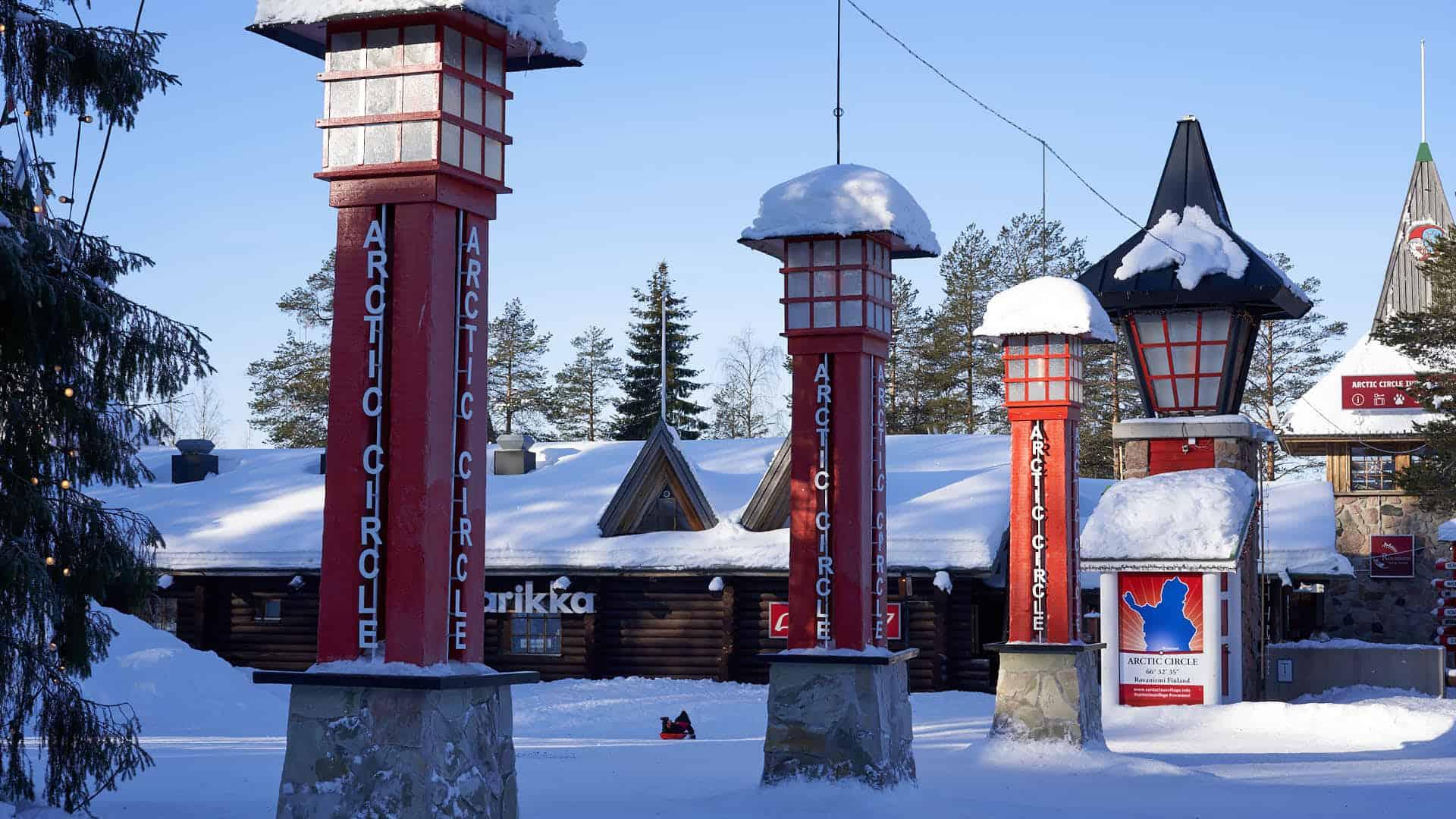 The Artic Circle in the Santa Claus Village in Rovaniemi