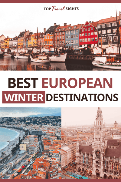 Pinterest graphic for Best European Winter Destinations