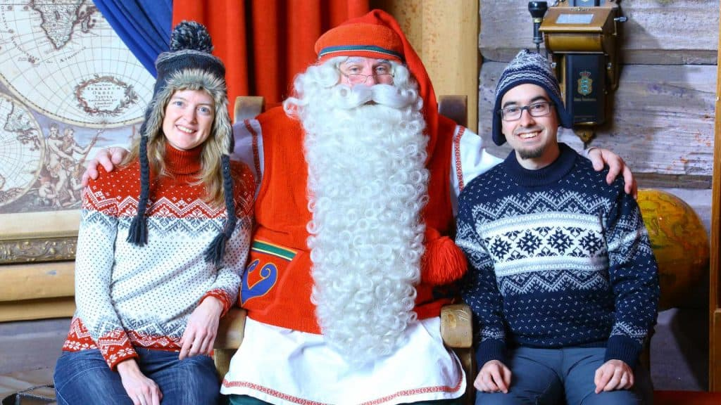 Ilona and Daniel with Santa