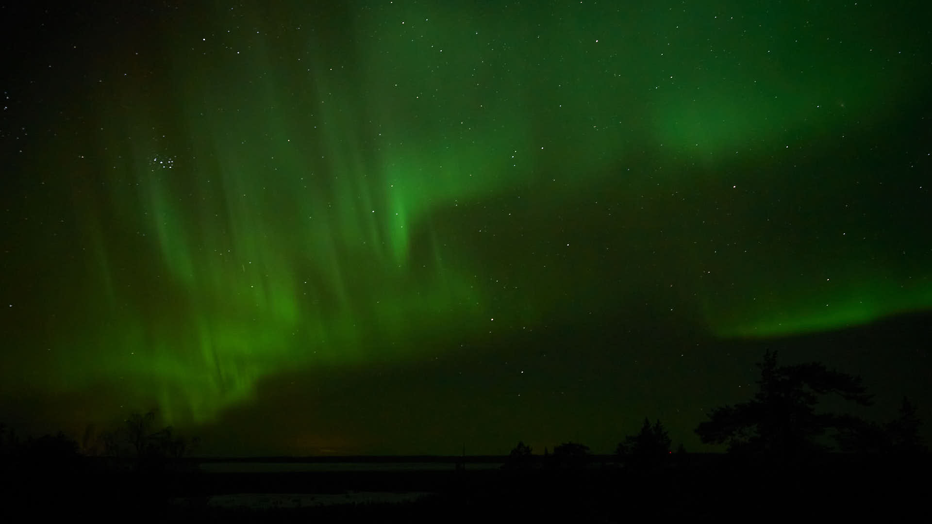 The Northern Lights seen from close to Rovaniemi