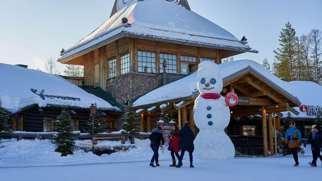 Giant snowman in the Santa Claus Village in Rovaniemi