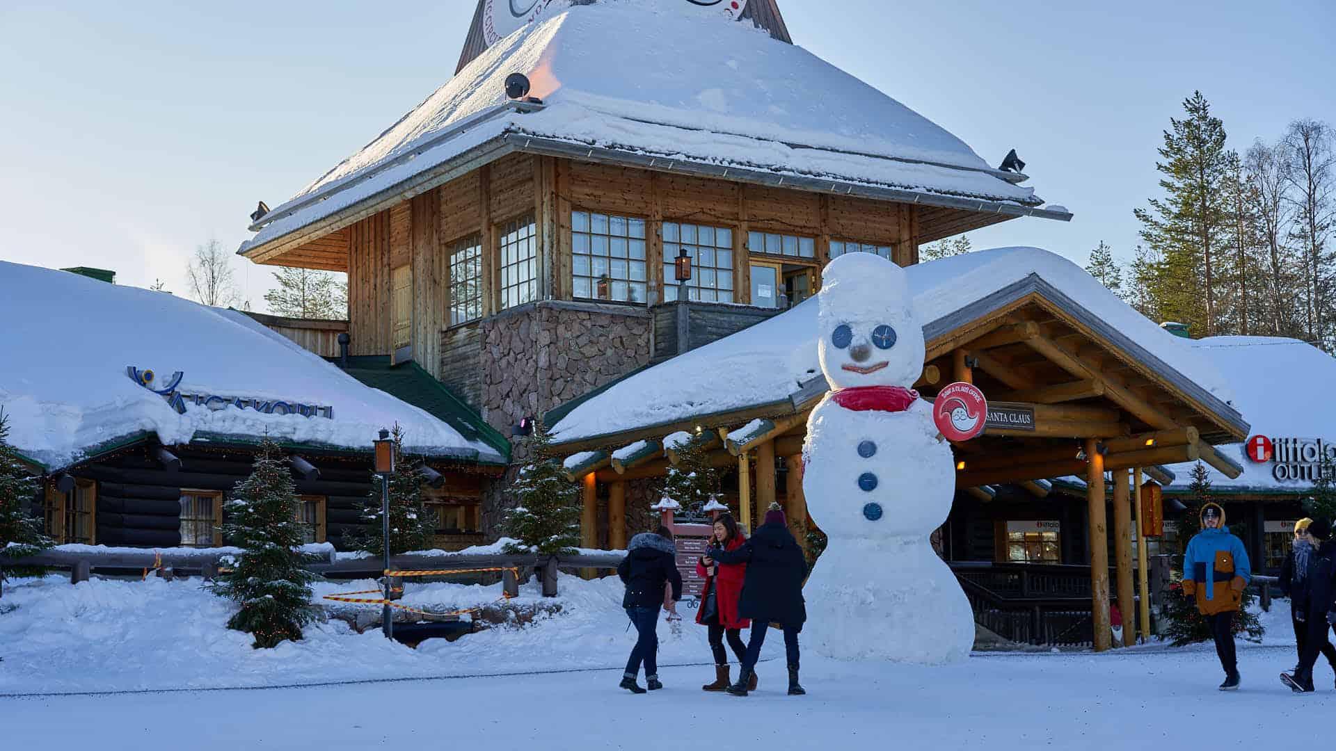 Giant snowman in the Santa Claus Village in Rovaniemi