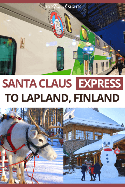 Pinterest graphic for The Santa Claus Express