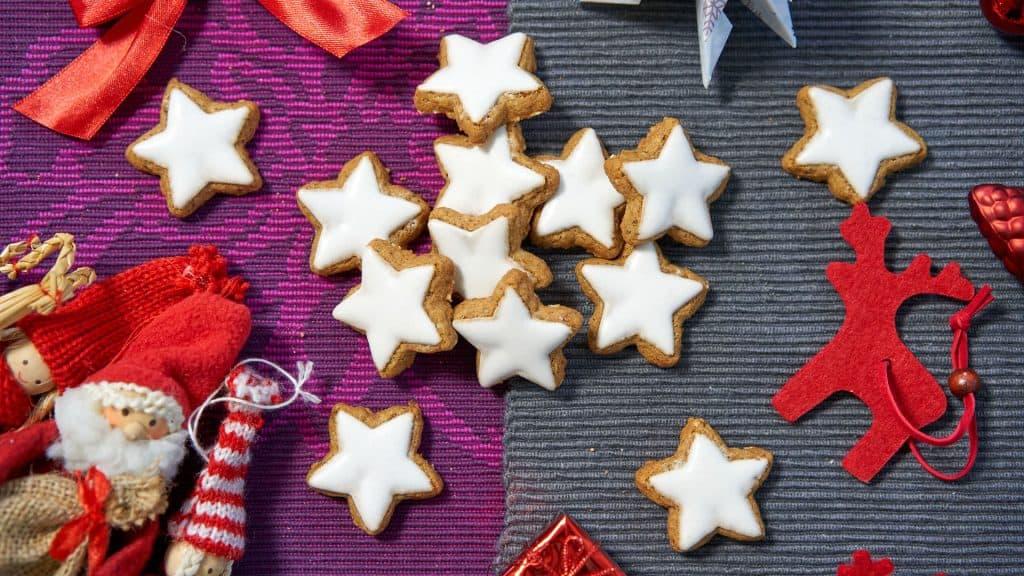 Cinnamon stars, also called Zimtsterne