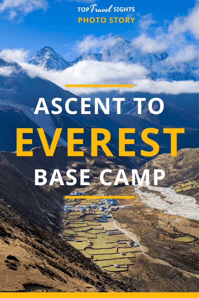 Pinterest graphic for Ascent to Everest Base Camp