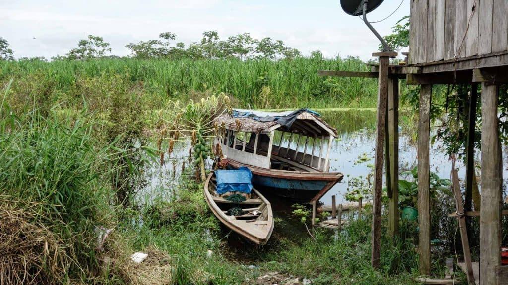 Boats in the Peruvian Amazon