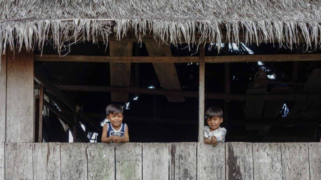 Children in the Amazon in Peru