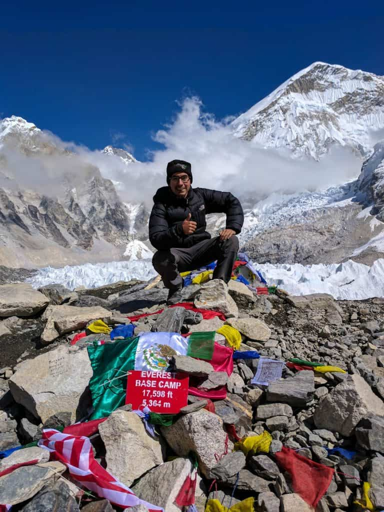 Me at the top of Everest Base Camp