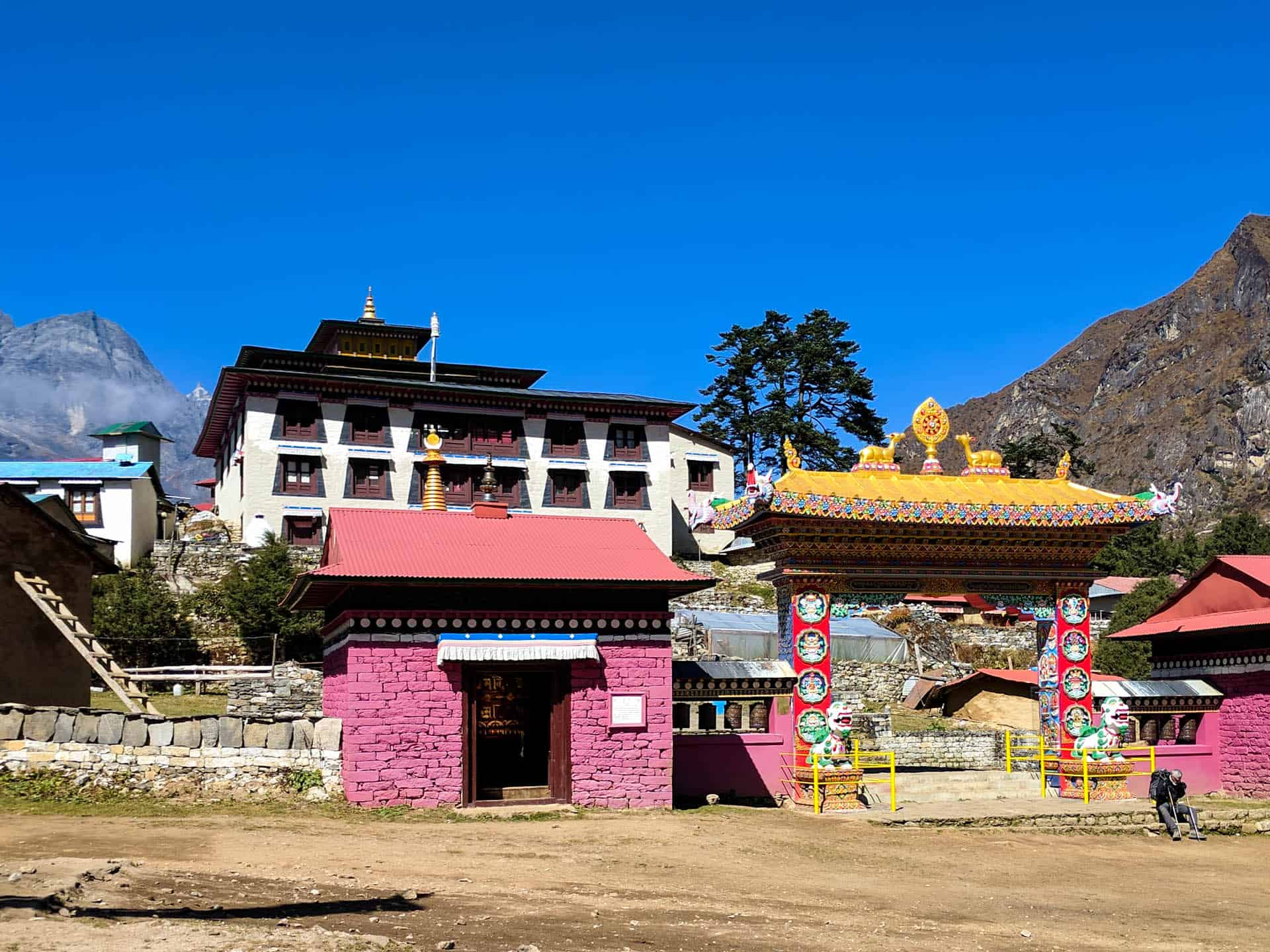 The front of Tengboche Monastery