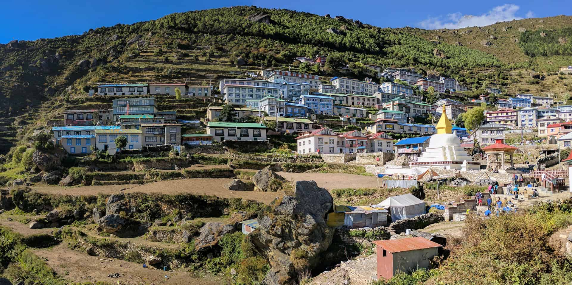 Panorama of Namche