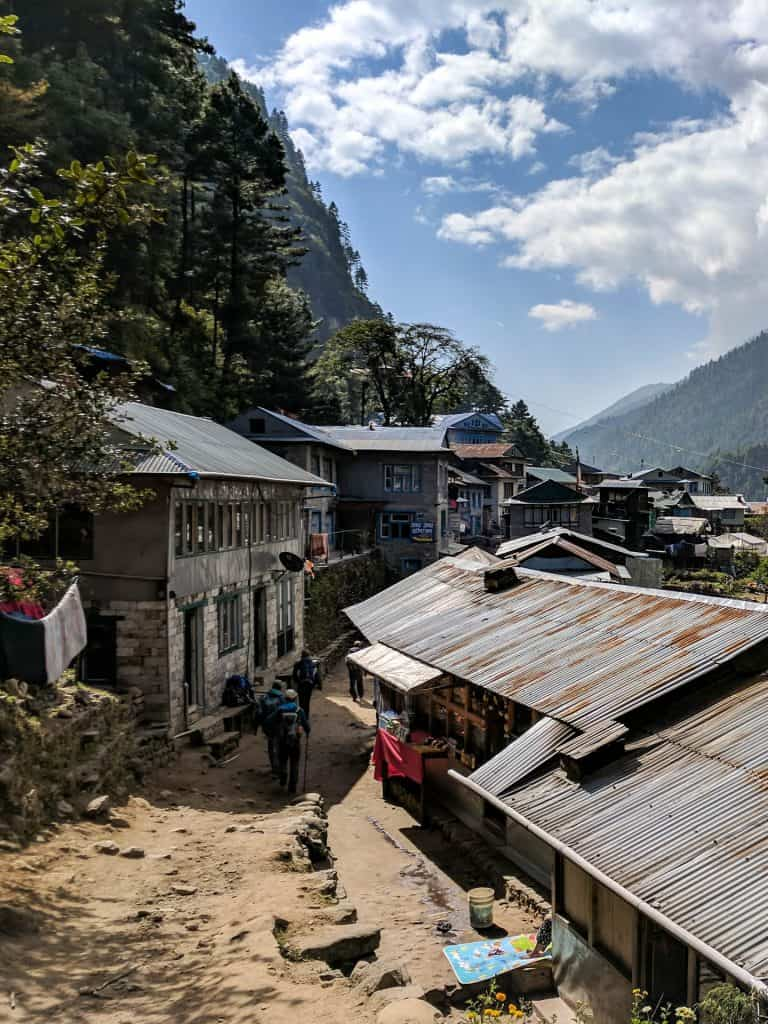 Street of the small village of Phakding
