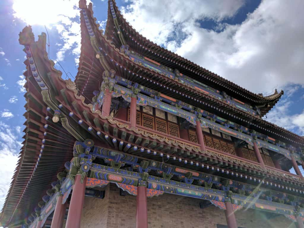 Tower and roofs of the Jiayuguan Fort