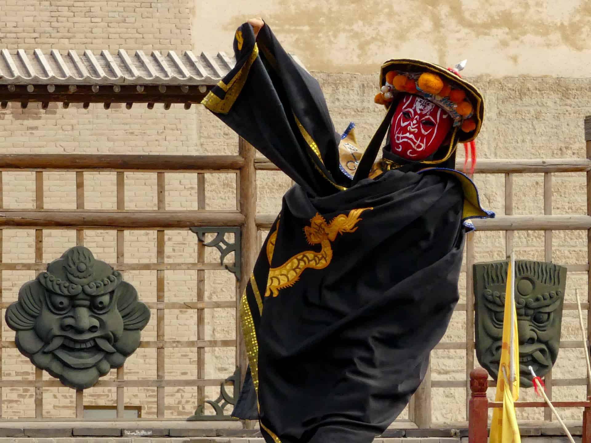 Masked men in Jiayuguan Fort