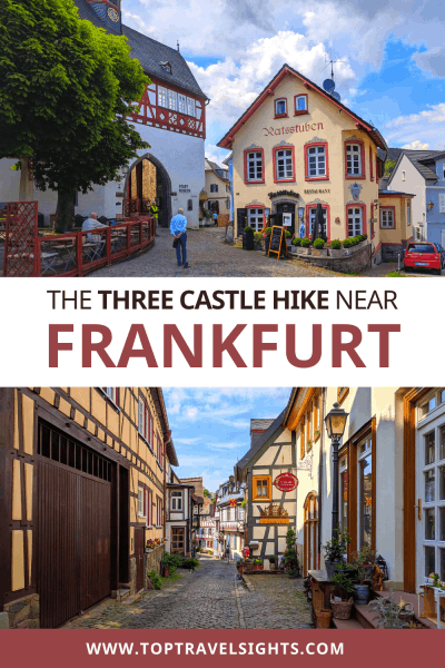 Pinterest graphic for the Three Castle Hike